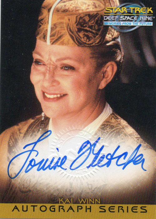 1999 Star Trek Deep Space Nine Memories from the Future Autographs #14 Louise Fletcher