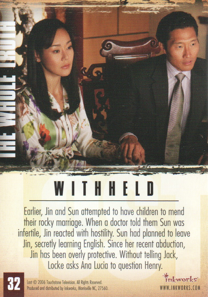 2006-Lost-Season-2-Trading-Cards-Pick-From-List miniature 65