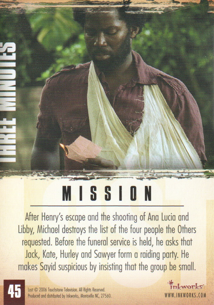 2006-Lost-Season-2-Trading-Cards-Pick-From-List miniature 91