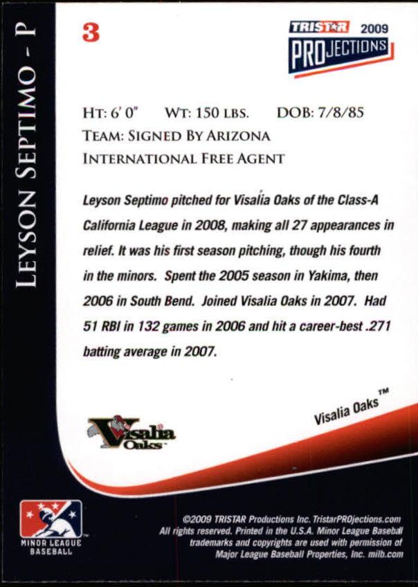 2009 TRISTAR PROjections #4 Craig Kimbrel PD back image