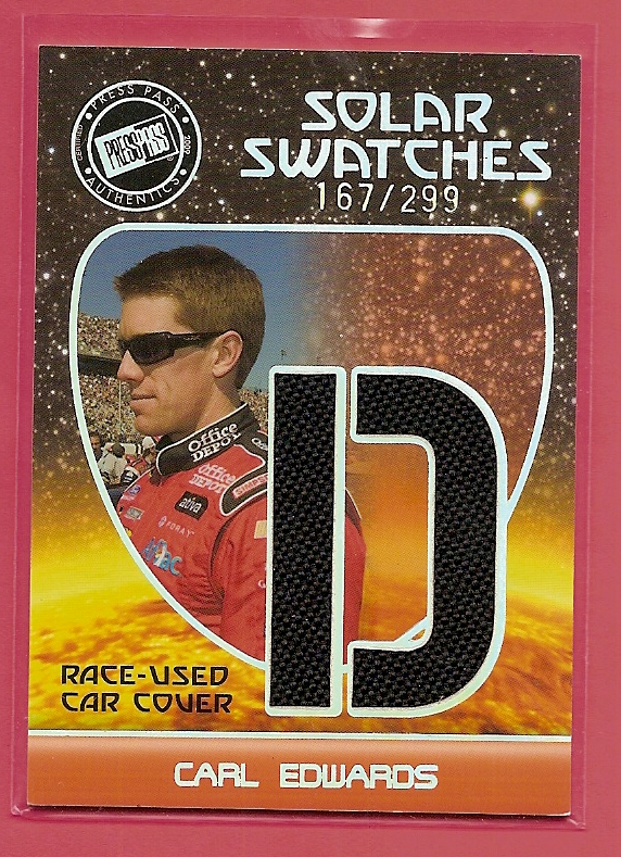 2009 Press Pass Eclipse Solar Swatches #SSCE2 Carl Edwards D/299