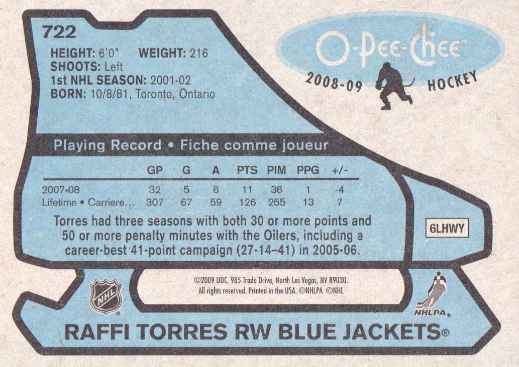 2008-09-O-Pee-Chee-OPC-1979-80-Retro-Parallel-Hockey-Cards-Pick-From-List miniature 261