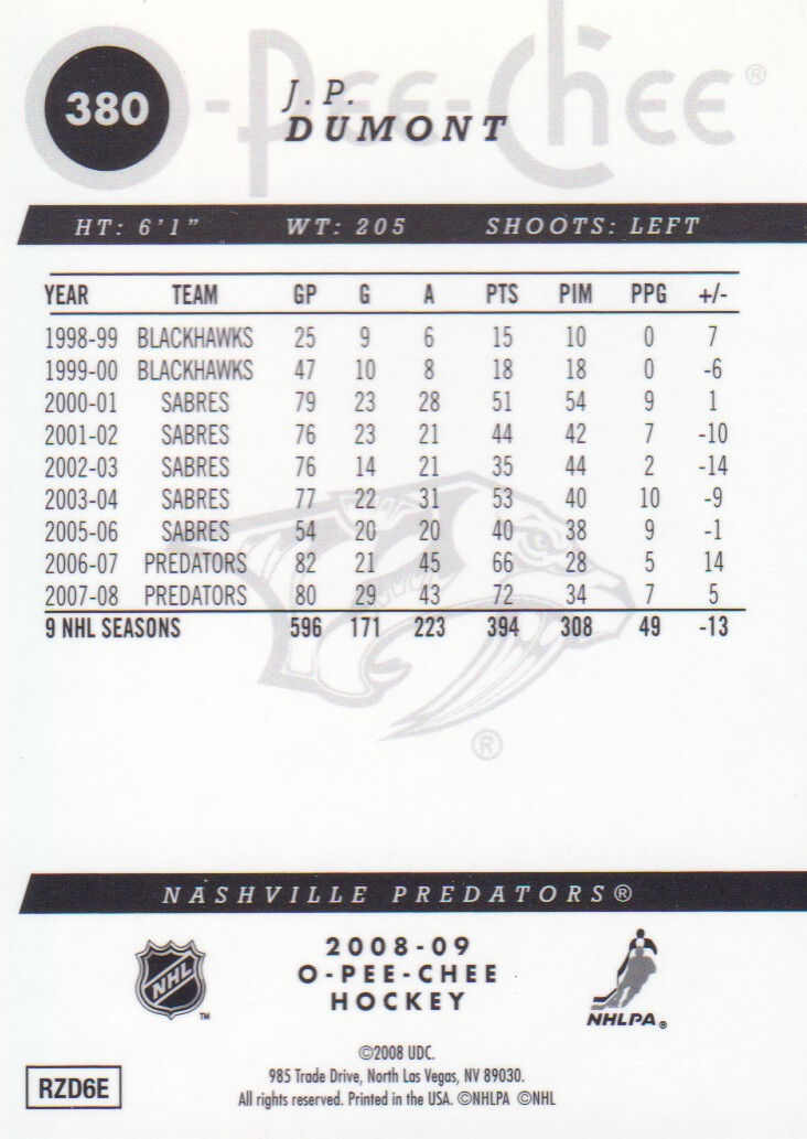 2008-09-O-Pee-Chee-OPC-Metal-Parallel-Hockey-Cards-Pick-From-List thumbnail 131