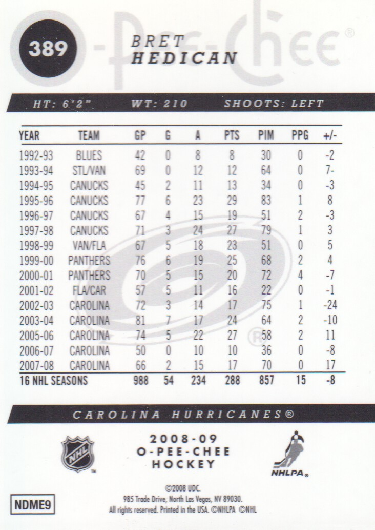 2008-09-O-Pee-Chee-OPC-Metal-Parallel-Hockey-Cards-Pick-From-List thumbnail 139