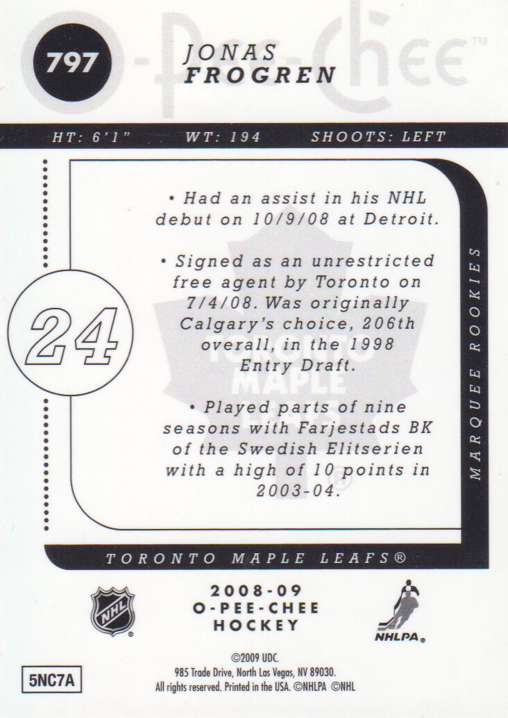 2008-09-O-Pee-Chee-OPC-Metal-Parallel-Hockey-Cards-Pick-From-List thumbnail 257