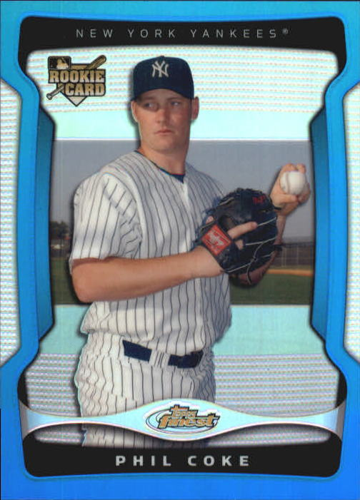 2009 Finest Refractors Blue #128 Phil Coke