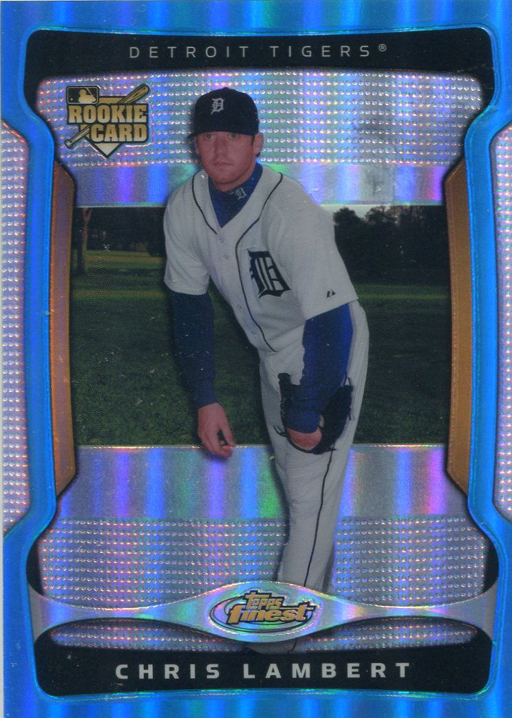 2009 Finest Refractors Blue #141 Chris Lambert