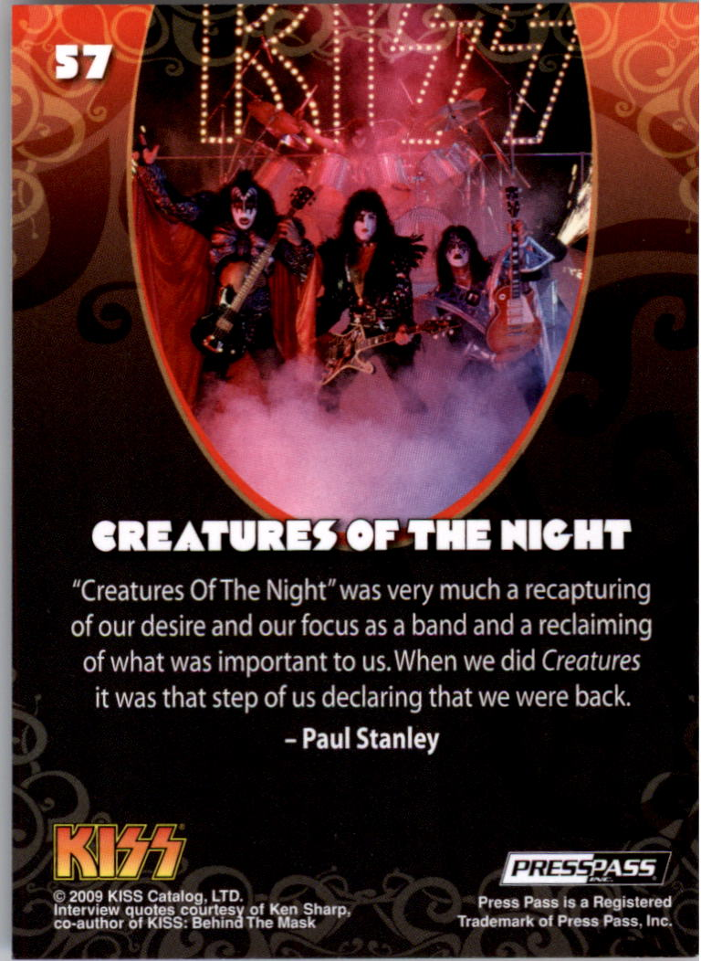 2009 KISS Ikons #57 Creatures of the Night back image