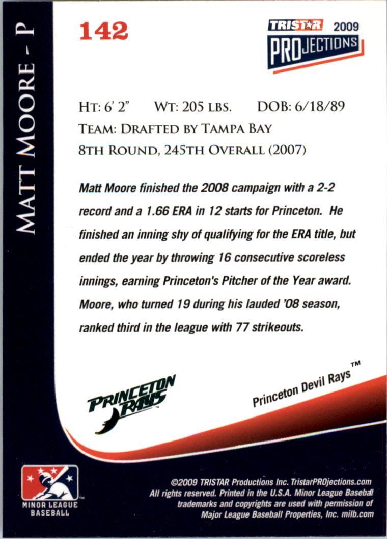 2009 TRISTAR PROjections #142 Matt Moore back image