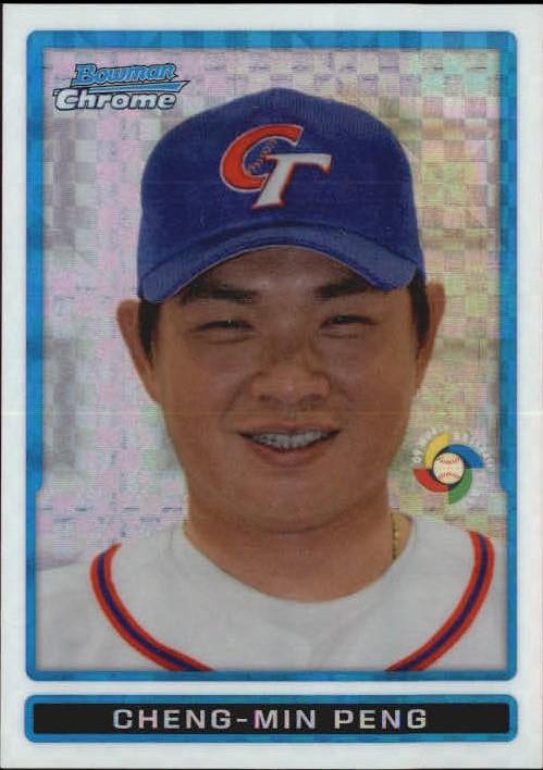 2009 Bowman Chrome WBC Prospects X-Fractors #BCW16 Cheng-Min Peng