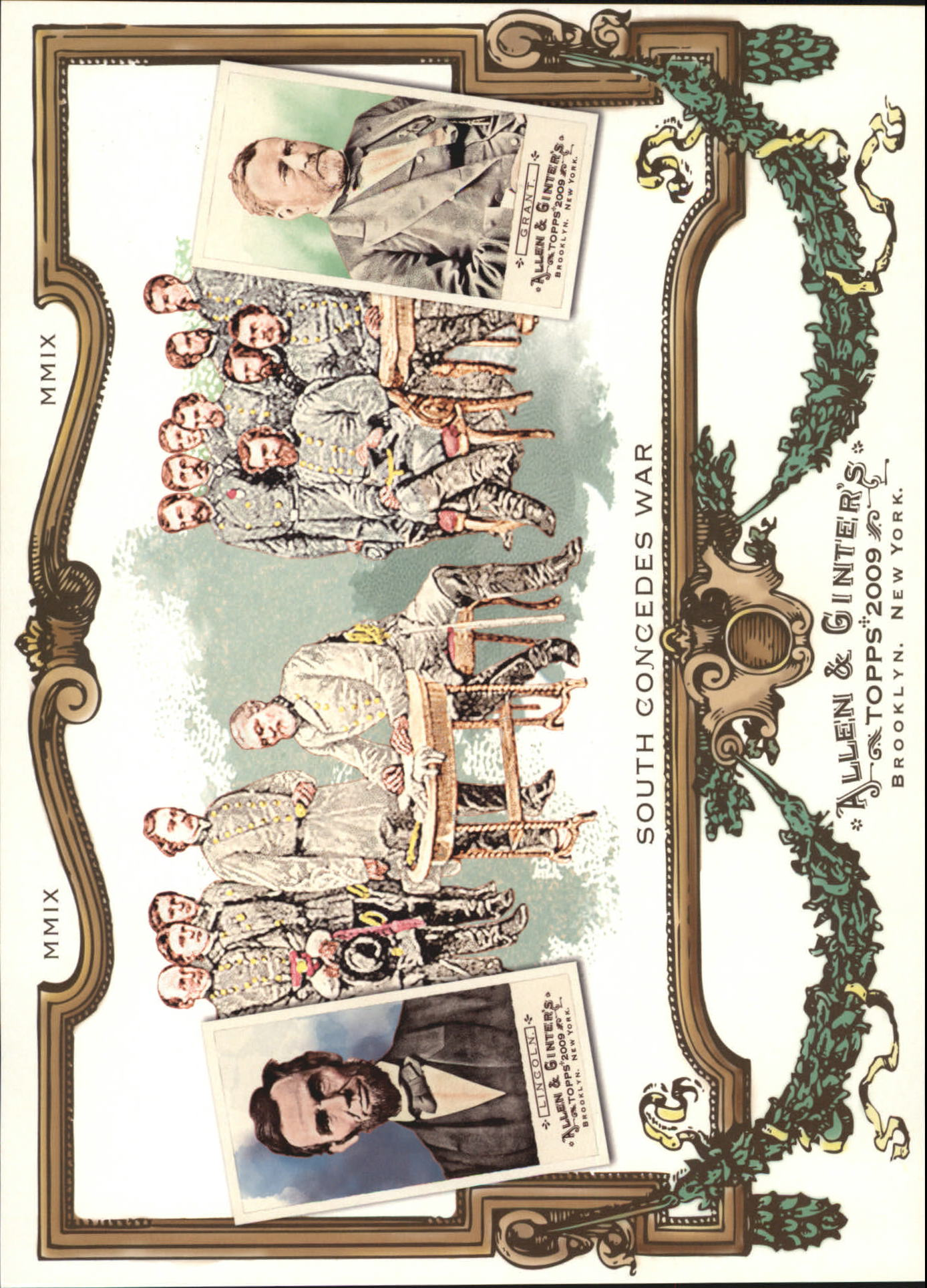 2009 Topps Allen and Ginter Cabinet Boxloaders #CB9 Abraham Lincoln/Ulysses S. Grant