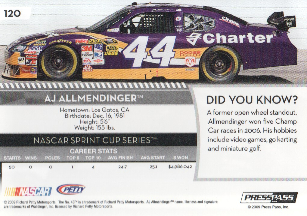 2009-Press-Pass-Parallels-NASCAR-Racing-Cards-Pick-From-List thumbnail 99