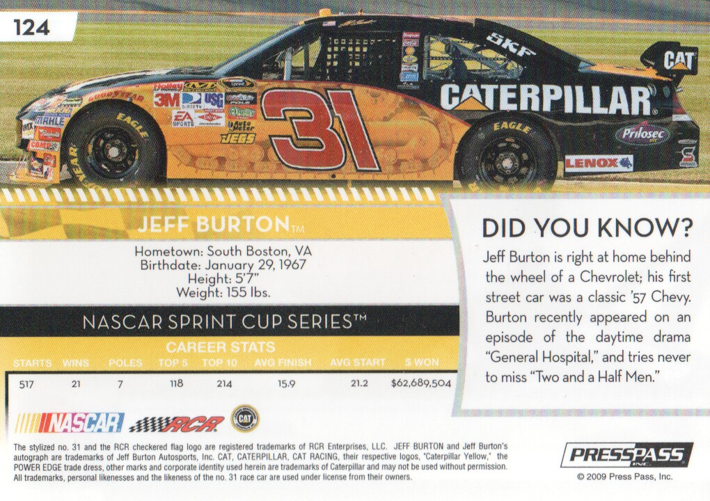 2009-Press-Pass-Parallels-NASCAR-Racing-Cards-Pick-From-List thumbnail 105