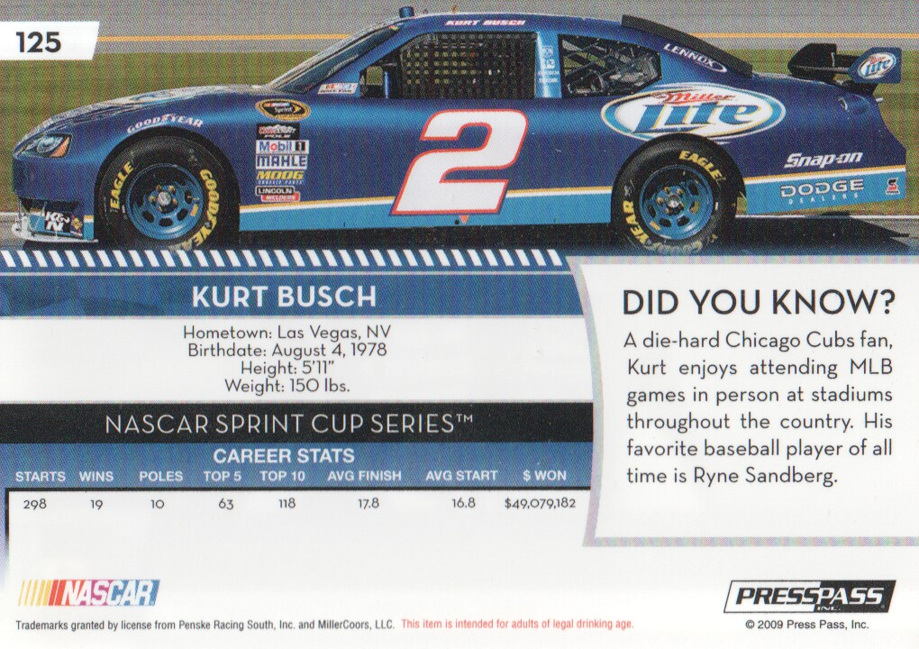 2009-Press-Pass-Parallels-NASCAR-Racing-Cards-Pick-From-List thumbnail 107