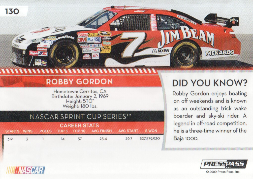 2009-Press-Pass-Parallels-NASCAR-Racing-Cards-Pick-From-List thumbnail 115