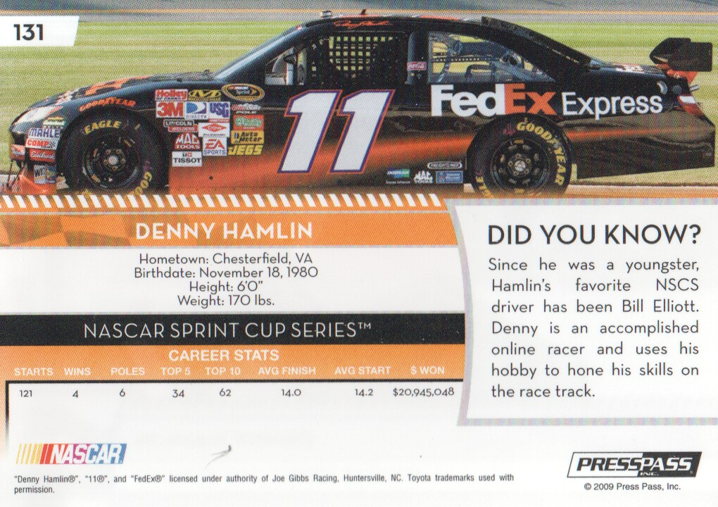 2009-Press-Pass-Parallels-NASCAR-Racing-Cards-Pick-From-List thumbnail 117