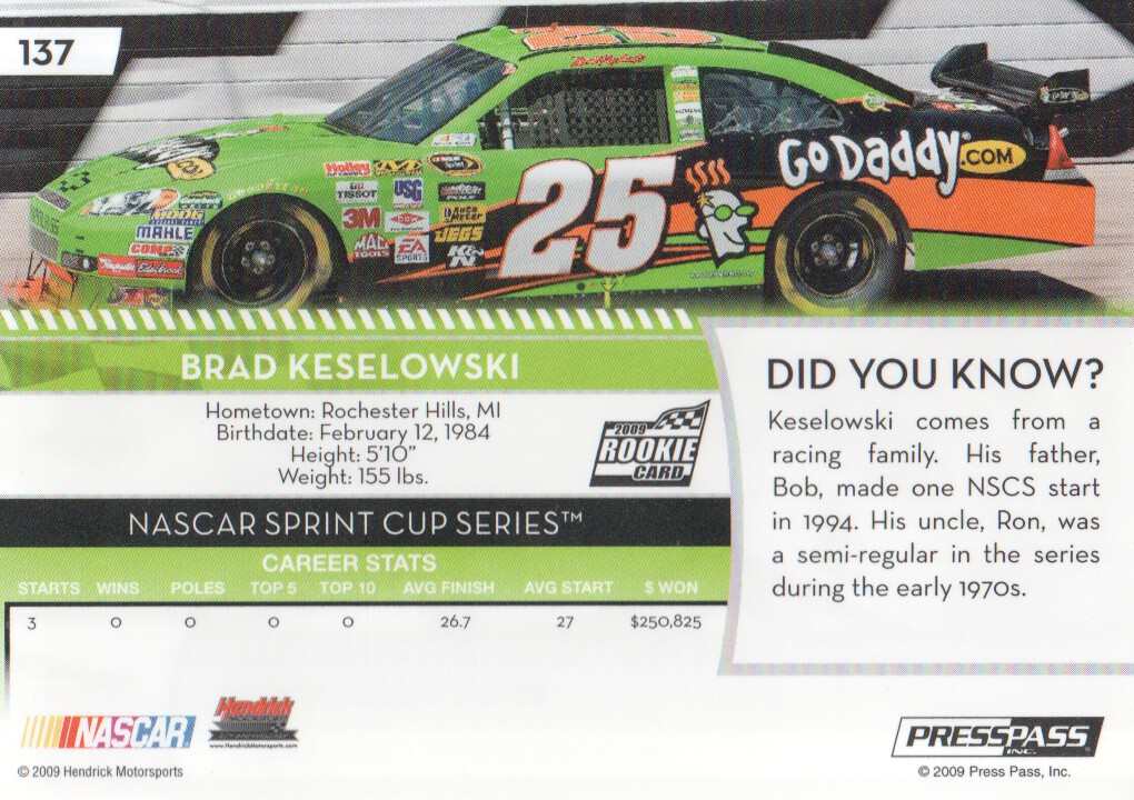 2009-Press-Pass-Parallels-NASCAR-Racing-Cards-Pick-From-List thumbnail 125