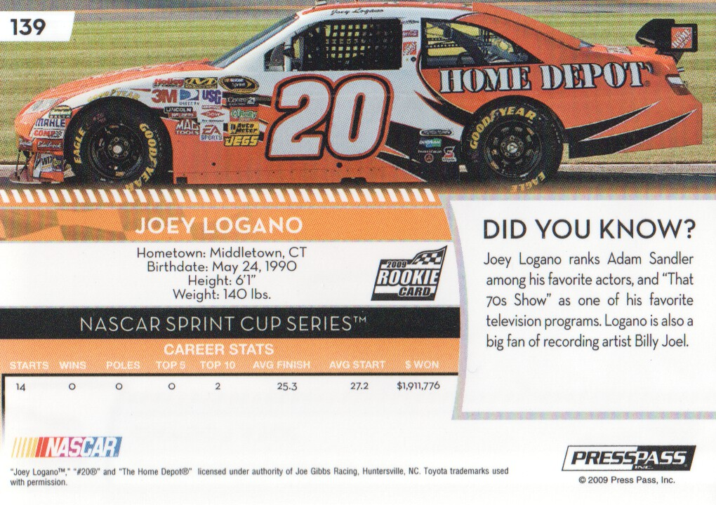 2009-Press-Pass-Parallels-NASCAR-Racing-Cards-Pick-From-List thumbnail 129
