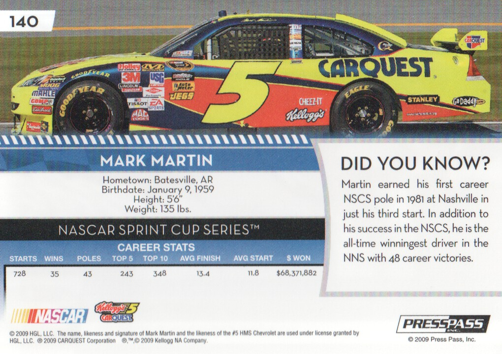 2009-Press-Pass-Parallels-NASCAR-Racing-Cards-Pick-From-List thumbnail 131