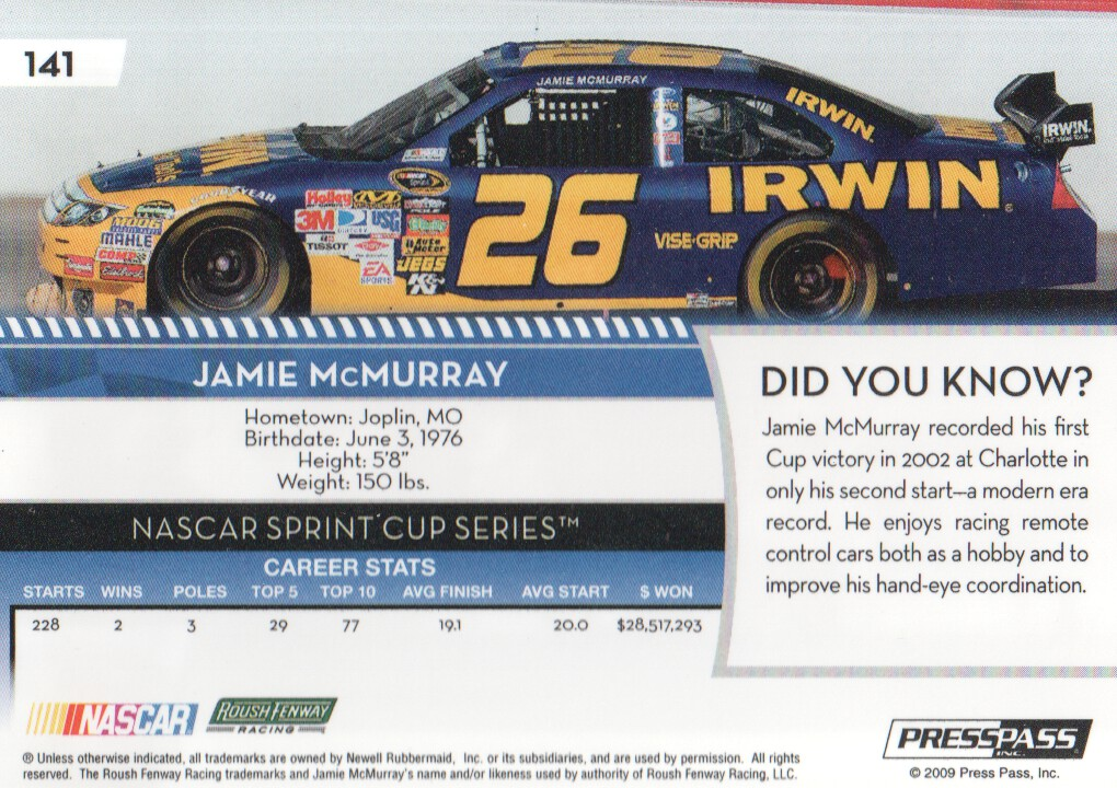 2009-Press-Pass-Parallels-NASCAR-Racing-Cards-Pick-From-List thumbnail 133