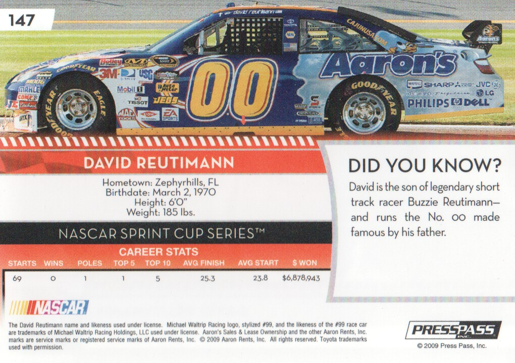 2009-Press-Pass-Parallels-NASCAR-Racing-Cards-Pick-From-List thumbnail 139