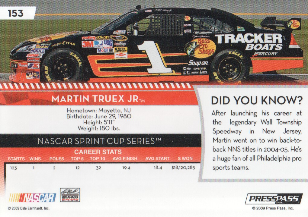 2009-Press-Pass-Parallels-NASCAR-Racing-Cards-Pick-From-List thumbnail 149