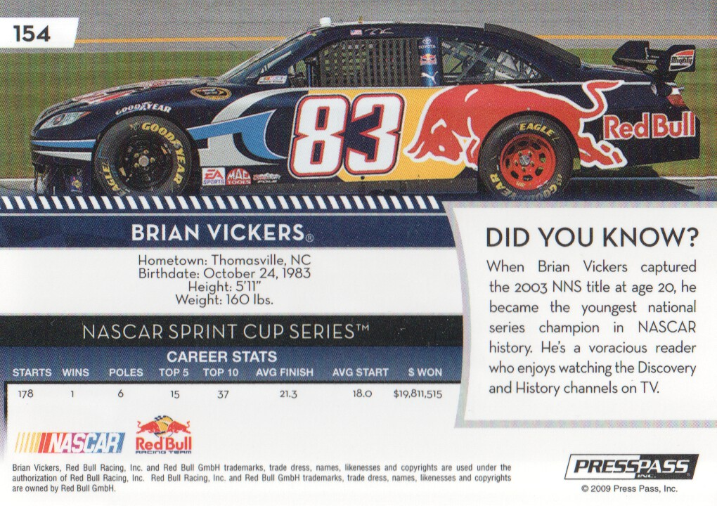 2009-Press-Pass-Parallels-NASCAR-Racing-Cards-Pick-From-List thumbnail 151