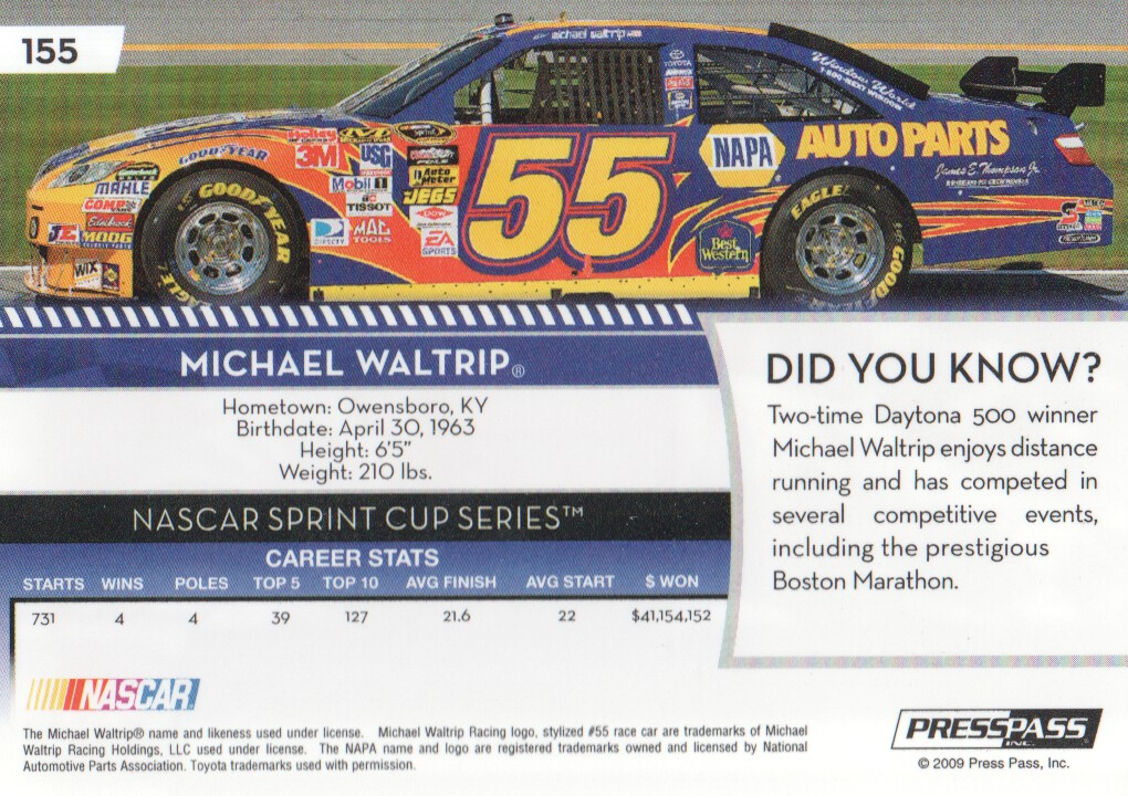 2009-Press-Pass-Parallels-NASCAR-Racing-Cards-Pick-From-List thumbnail 153