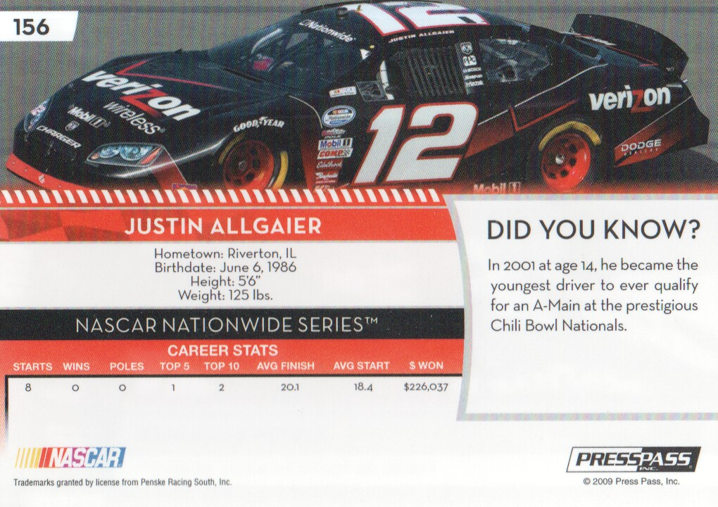 2009-Press-Pass-Parallels-NASCAR-Racing-Cards-Pick-From-List thumbnail 155