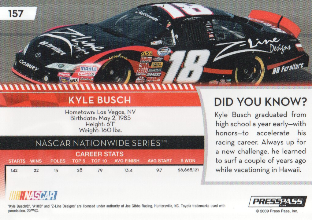 2009-Press-Pass-Parallels-NASCAR-Racing-Cards-Pick-From-List thumbnail 157