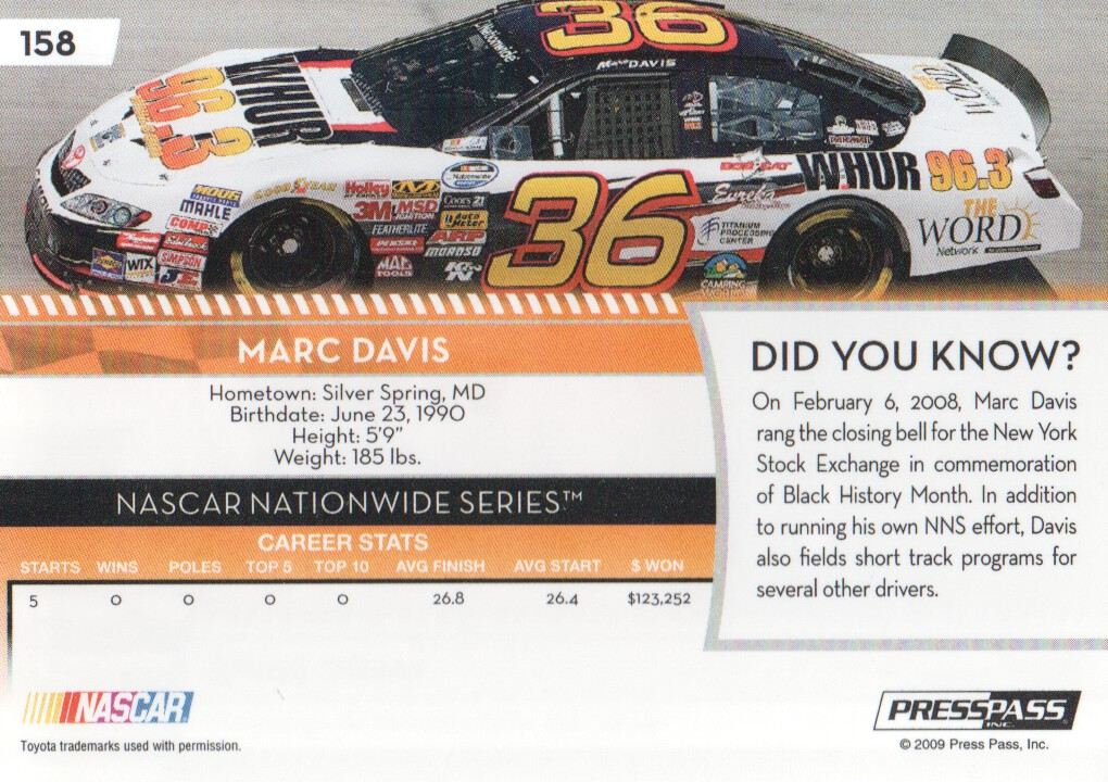2009-Press-Pass-Parallels-NASCAR-Racing-Cards-Pick-From-List thumbnail 159