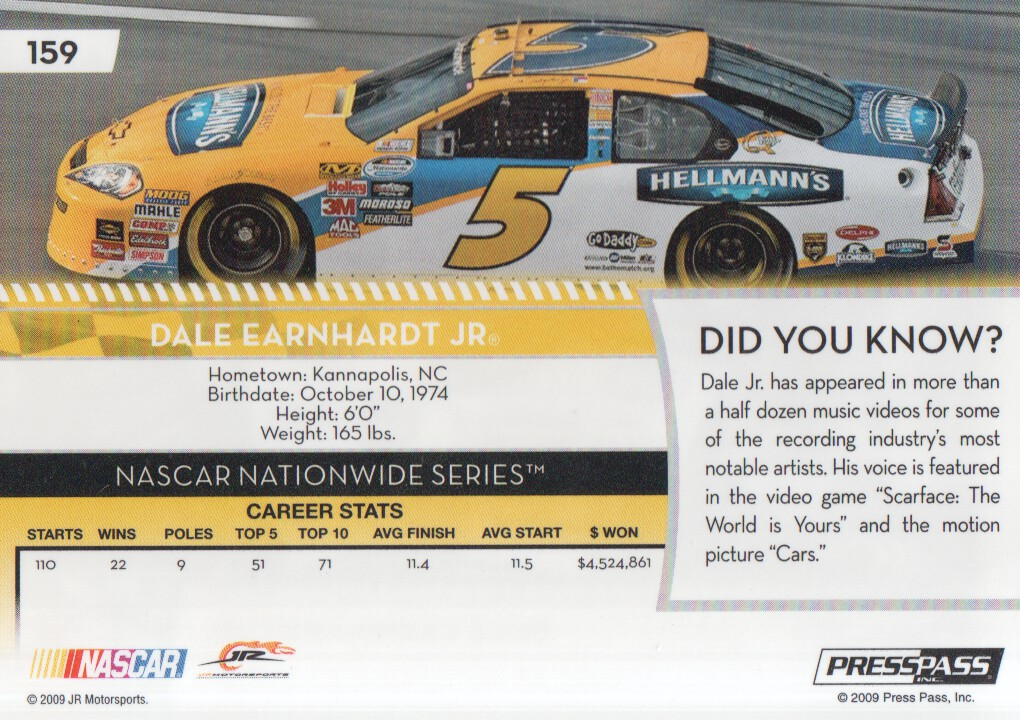 2009-Press-Pass-Parallels-NASCAR-Racing-Cards-Pick-From-List thumbnail 161
