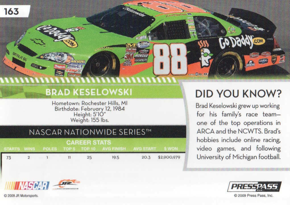 2009-Press-Pass-Parallels-NASCAR-Racing-Cards-Pick-From-List thumbnail 167