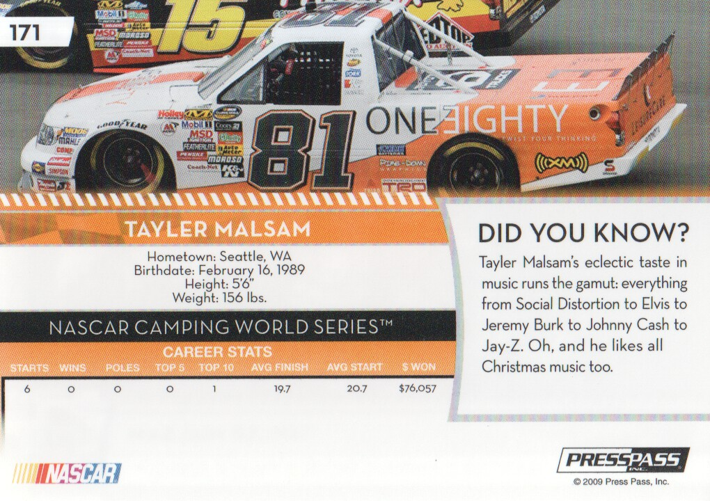 2009-Press-Pass-Parallels-NASCAR-Racing-Cards-Pick-From-List thumbnail 179