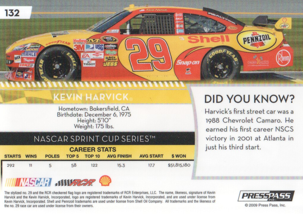 2009-Press-Pass-Parallels-NASCAR-Racing-Cards-Pick-From-List thumbnail 237