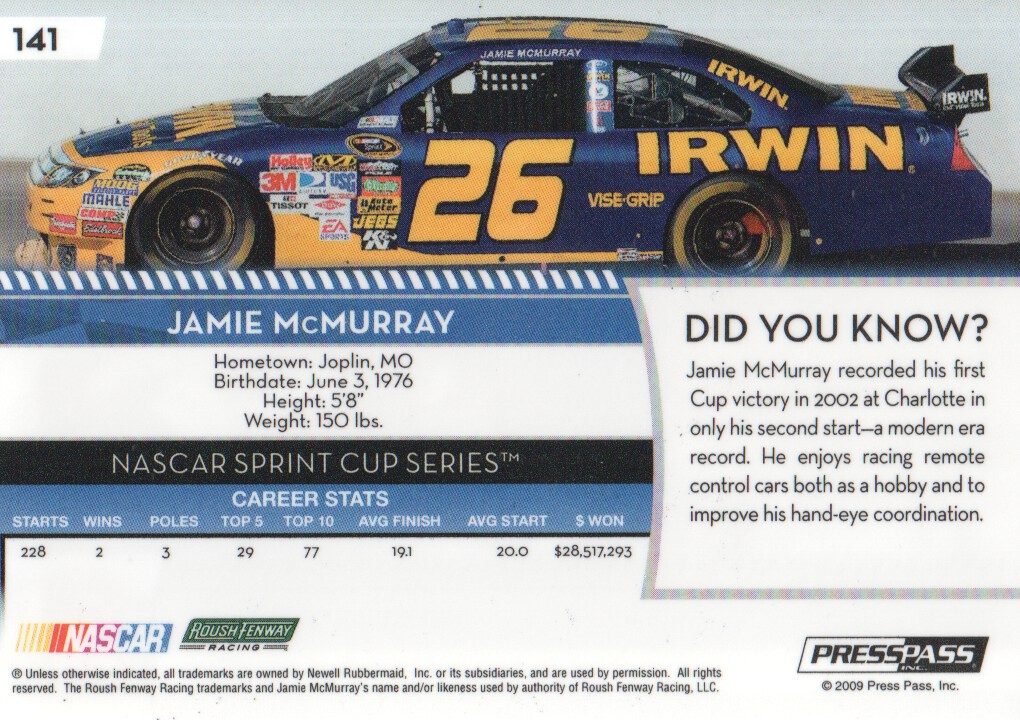 2009-Press-Pass-Parallels-NASCAR-Racing-Cards-Pick-From-List thumbnail 239