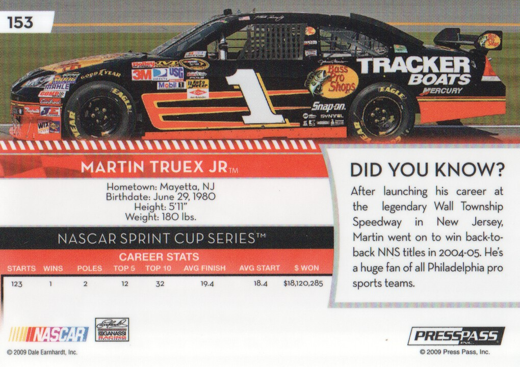 2009-Press-Pass-Parallels-NASCAR-Racing-Cards-Pick-From-List thumbnail 241