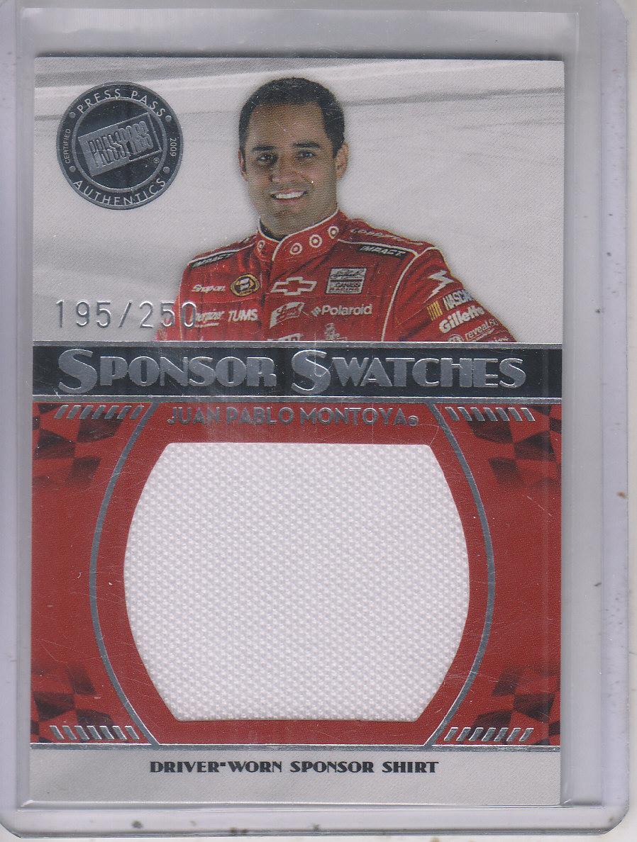 2009 Press Pass Sponsor Swatches #SSJPM Juan Pablo Montoya/250