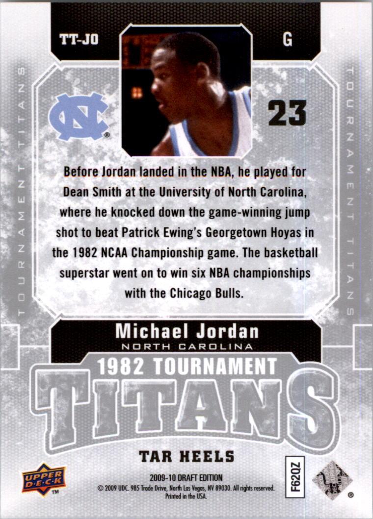 2009-10 Upper Deck Draft Edition Tournament Titans #TTJO Michael Jordan back image