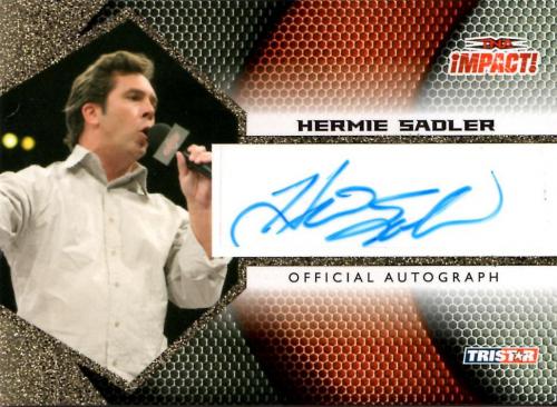 2009 TRISTAR TNA Impact Autographs Gold #IA26 Hermie Sadler