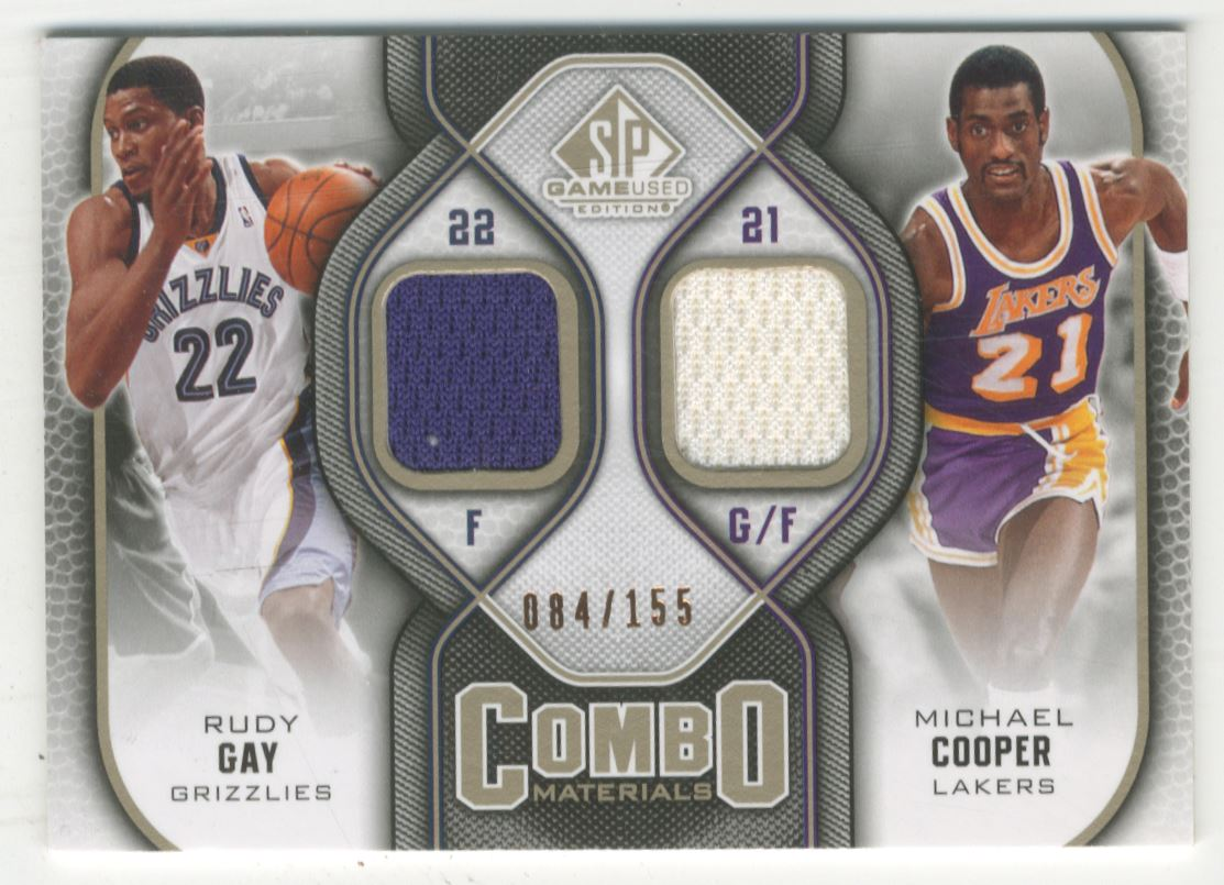 9f9a6c255 2009-10 SP Game Used Combo Materials 155  CMCG Rudy Gay Michael Cooper 155