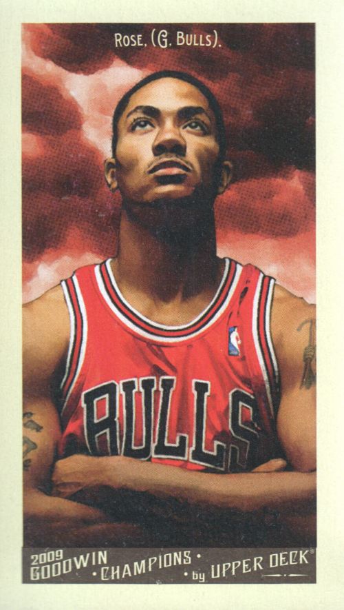 2009 Upper Deck Goodwin Champions Mini #143 Derrick Rose