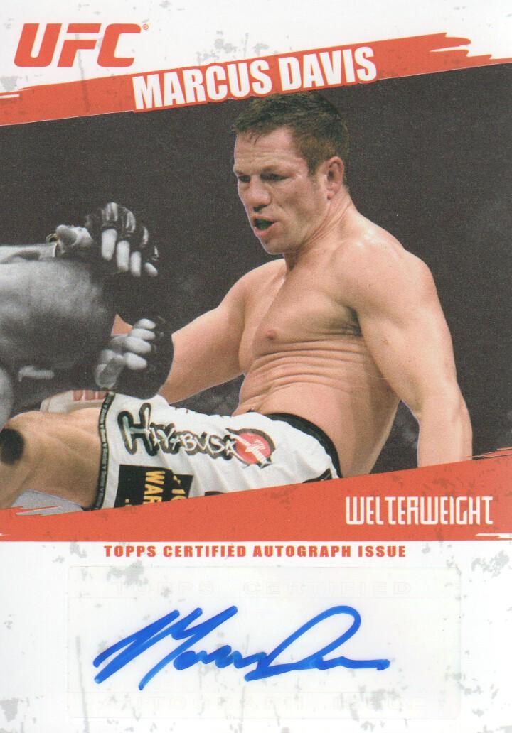 2009 Topps UFC Autographs #FAMD Marcus Davis F