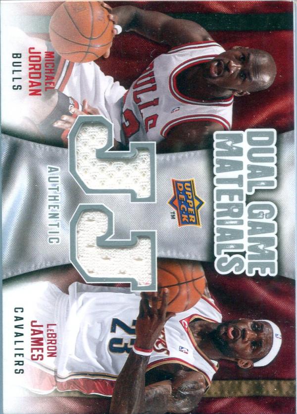 2009-10 Upper Deck Game Materials Dual #DGML LeBron James/Michael Jordan