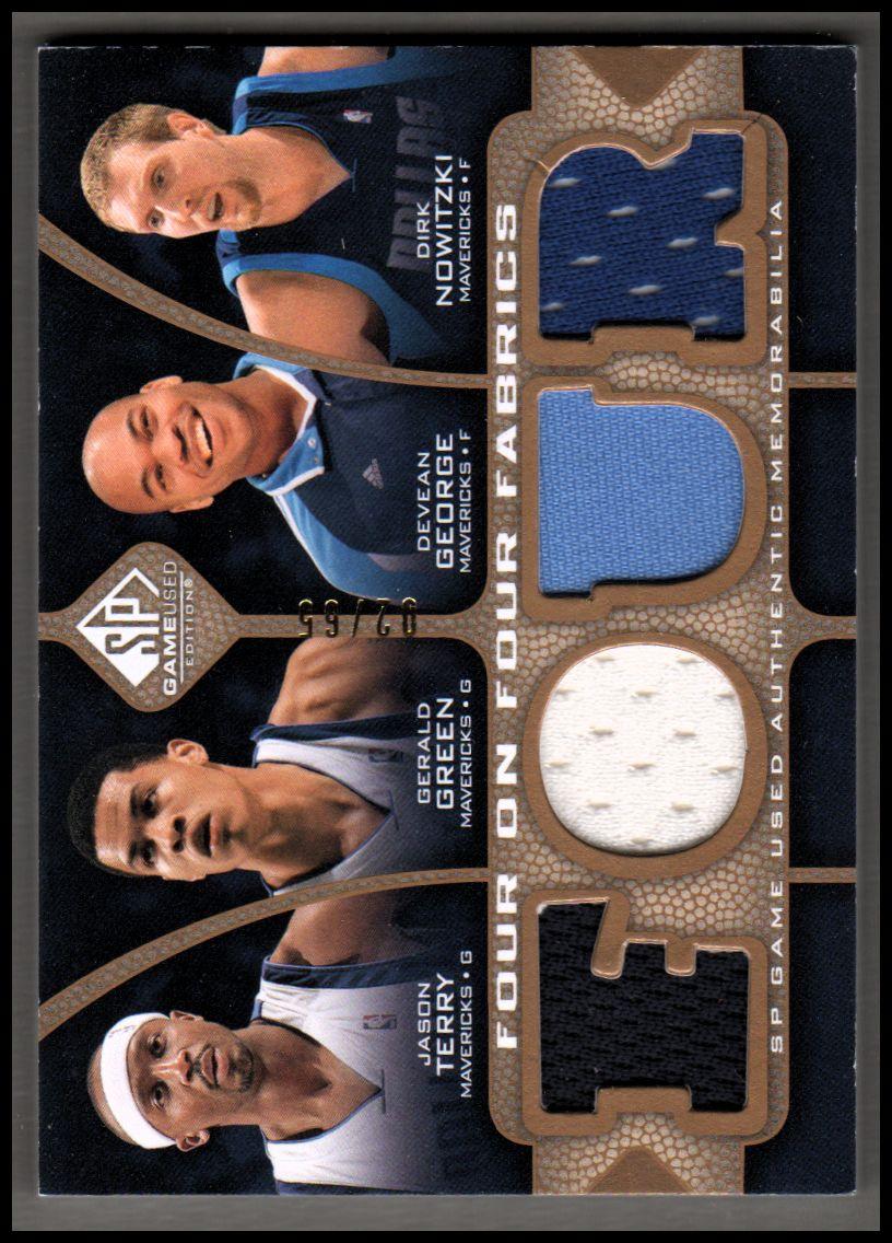 2009-10 SP Game Used 4 on 4 Fabrics 65 #FFDALMEM Gerald Green/Devean George/Jason Terry/Dirk Nowitzki/Rudy Gay/Darius Miles/O.J. Mayo/Mike Conley Jr.
