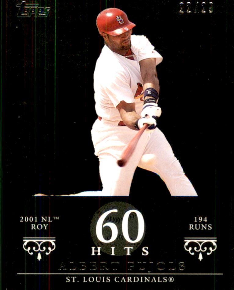 2007 Topps Moments and Milestones Black #3-60 Albert Pujols/Hit 60
