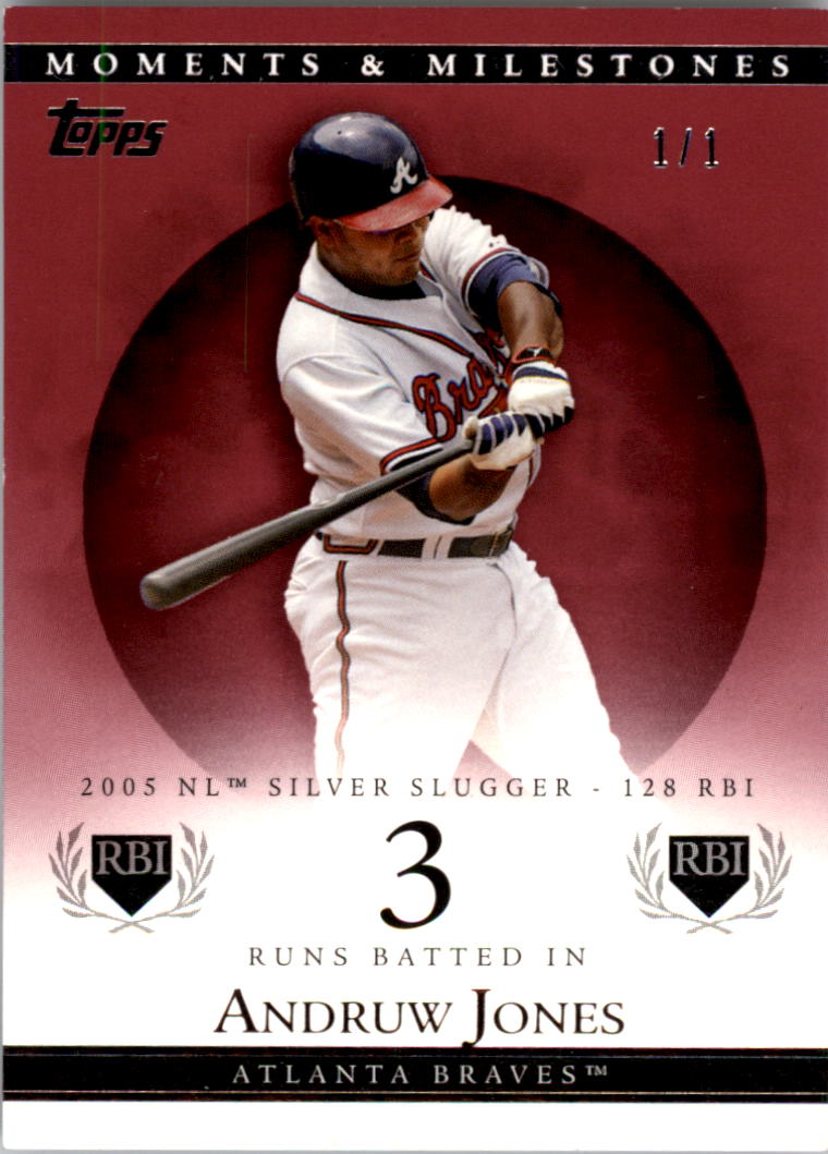2007 Topps Moments and Milestones Red #94-3 Andruw Jones/RBI 3