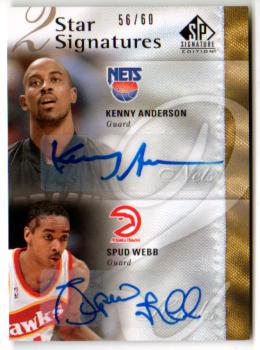 2009-10 SP Signature Edition 2 Star Signatures #2SWA Spud Webb/Kenny Anderson/60