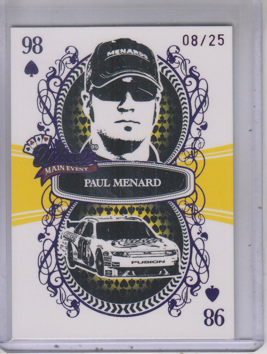 2009 Wheels Main Event Fast Pass Purple #32 Paul Menard