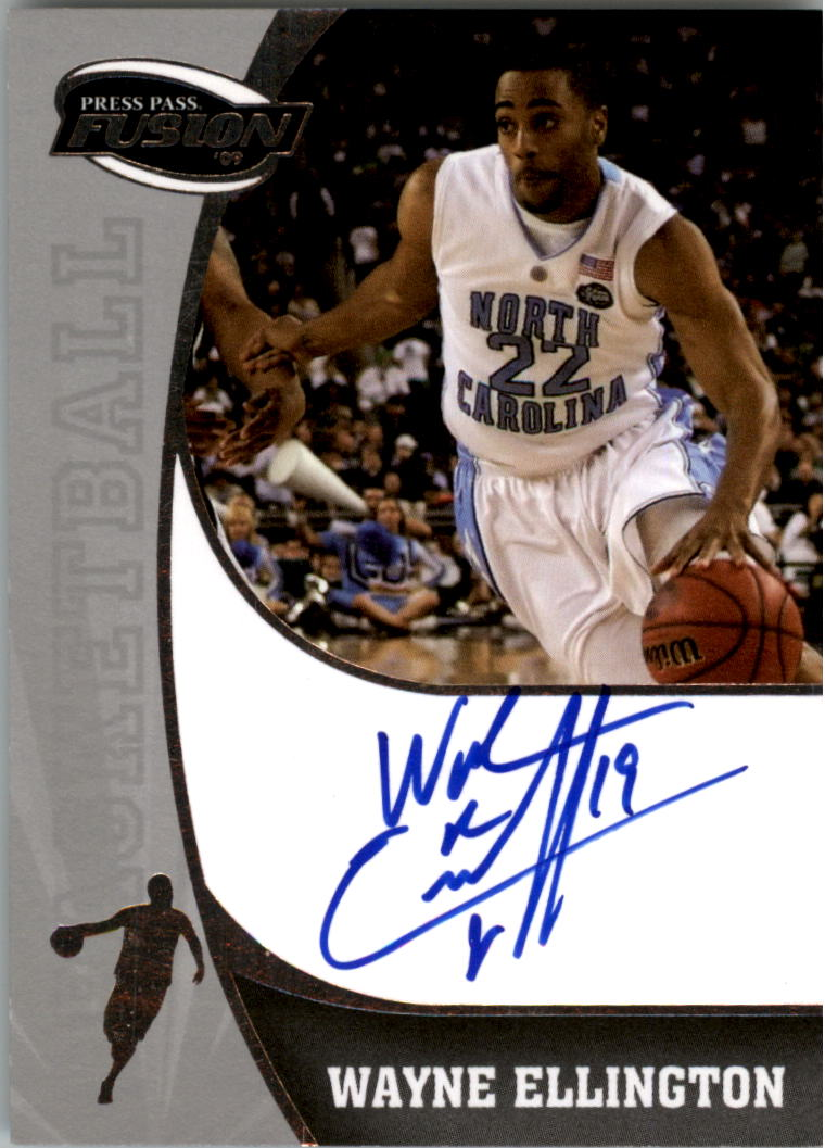 2009 Press Pass Fusion Autographs Silver #SSWE Wayne Ellington